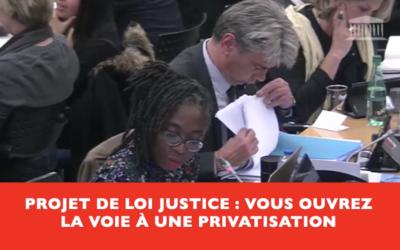 Vidéo – Vers une privatisation de la Justice !