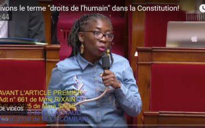 """Vidéo – """"Inscrivons le terme « droits de l'humain » dans la Constitution !"""""""