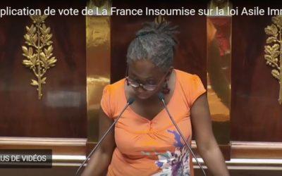 Explication de vote du groupe LFI sur le projet de loi asile et immigration