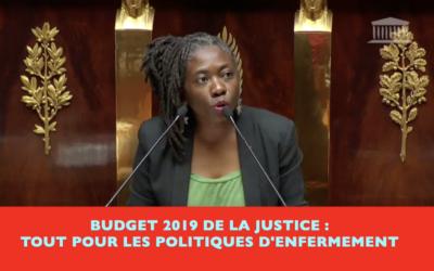 Vidéo – Budget justice 2019 : un manque de vision politique et tout pour l'enfermement.