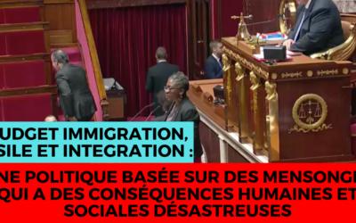 """Vidéo – Budget 2019 """"Immigration, asile, intégration"""" : une politique désastreuse basée sur des mensonges"""