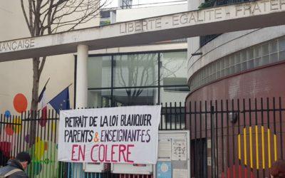 Communiqué – Soutien aux établissements scolaires mobilisés contre la loi Blanquer