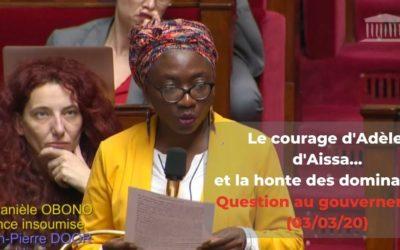 Question au gouvernement – Lutte contre les violences : le courage des femmes, la honte du gouvernement