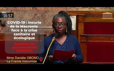 Question au gouvernement – COVID-19 : incurie de la Macronie face à la crise sanitaire et écologique