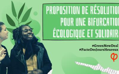 Journée parlementaire LFI 2020 – Proposition de résolution : pour une bifurcation écologique et solidaire