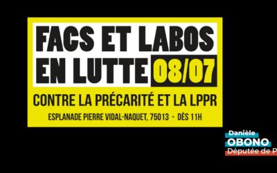 Manifestation – Rassemblement des facs et labos en lutte : stop LPPR !