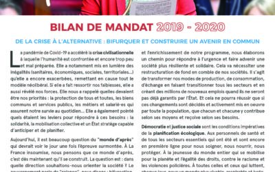Bulletin – Bilan de mandat 2019-2020 : de la crise à l'alternative