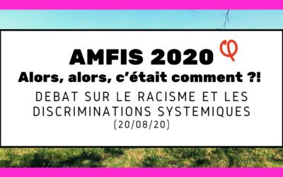 """Amfis 2020 : alors, c'était comment le débat """"Racisme et discriminations"""" ?"""