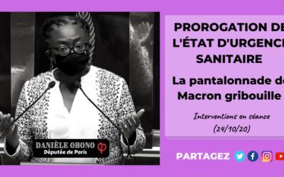 Séance – État d'urgence sanitaire : la pantalonnade de Macron gribouille