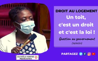 """Séance – Question orale """"sans débat"""" : un toit, c'est un droit et c'est la loi !"""