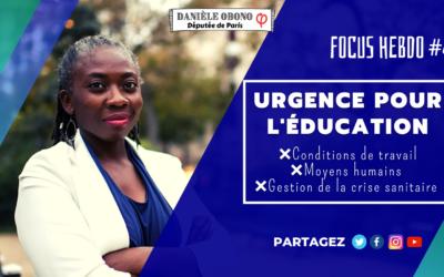 Focus hebdo #4 : urgence pour l'éducation