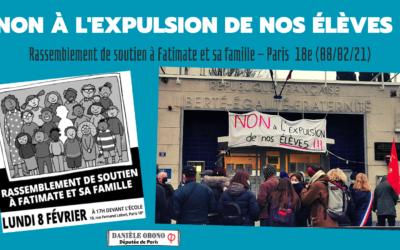 Circo (18e) – Solidarité migrant·es : non à l'expulsion de Fatimate et sa famille
