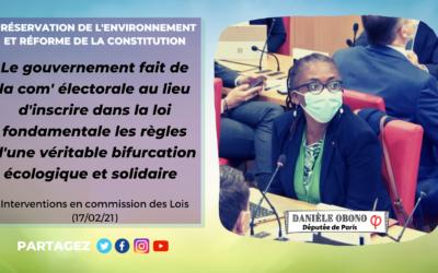Commission – Réforme de la Constitution : énième coup de com' vs véritable bifurcation écologique