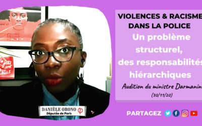 Commission – Audition de Darmanin : violence et racisme dans la police
